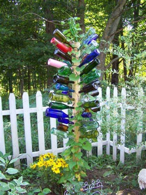 how to make outdoor decorations 19 sustainable diy wine bottle outdoor decorating ideas
