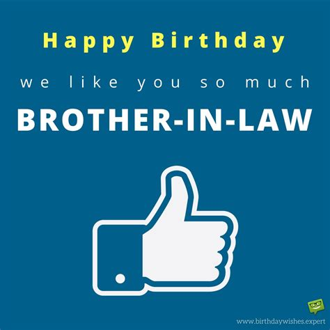 in law birthday wishes for your brother in law