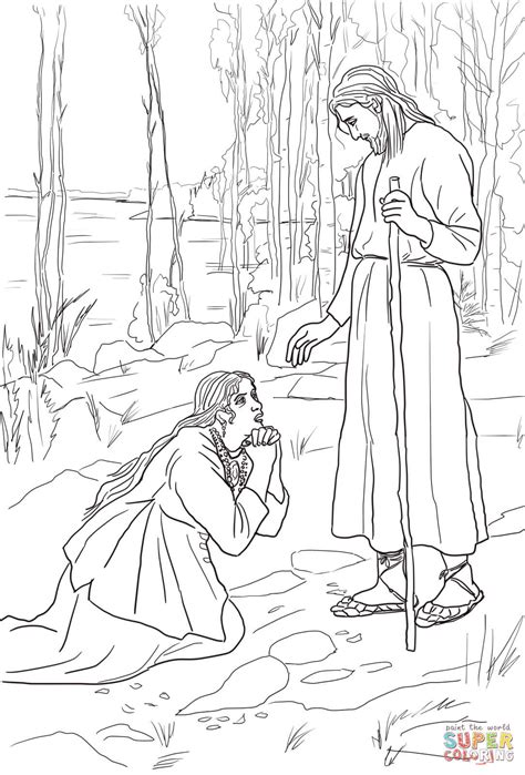 mary perfume jesus feet coloring page coloring pages