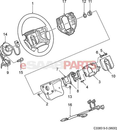 diagram of car wheel parts 12758902 saab steering wheel leather for saab 9 5 aero