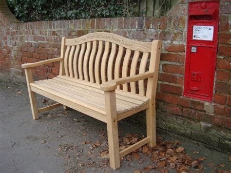 www bench co 4memorialbench text engraving to curved top rail