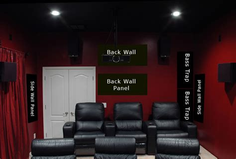 acoustic room treatments home theater  klipsch