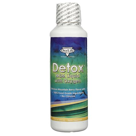 Is Msm A Detox by Oxylife Detox Msm Liquid Woxygen 16 Oz Evitamins