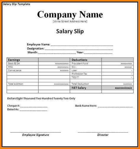 Paper Receipt Template by 10 Salary Paper Format Sales Slip Template