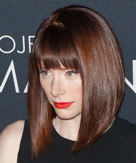 Formal Hairstyles For Medium Hair With Bangs by Bryce Dallas Howard Medium Formal Bob Hairstyle