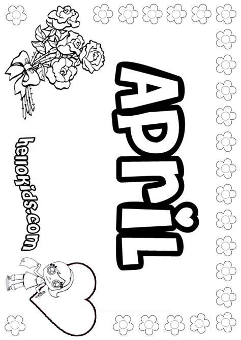 coloring page april april coloring pages hellokids