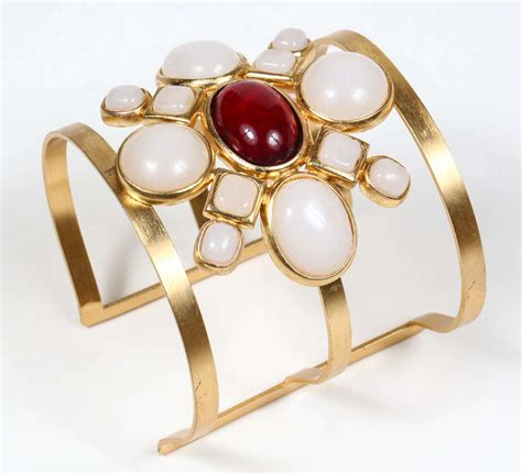Chanel Poured Glass Arm Cuff For Sale at 1stdibs
