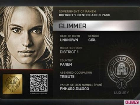 hunger games hairstyles glimmer citizen of panem identification pass district 1 glimmer