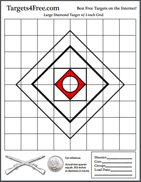 printable grid shooting targets print your own shooting targets for free free printable