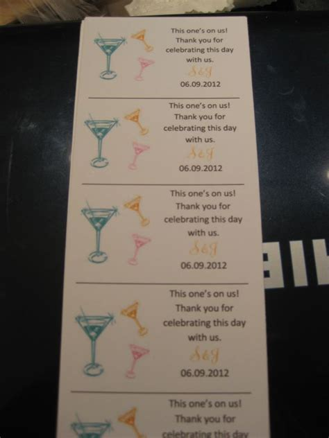 diy tickets template diy drink tickets weddingbee photo gallery