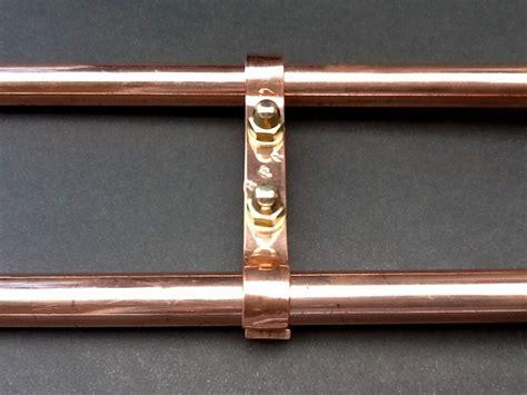 Plumbing Brackets - classic shower plumbing bracket 150mm spacing solid copper