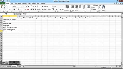 How To Budget Spreadsheet by How To Create A Spreadsheet For Budget Spreadsheets