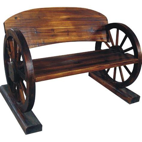 wheel garden bench wagon wheel bench