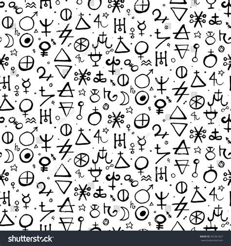 Apology Letter Pattern vector geometric pattern alchemy symbols shapes stock