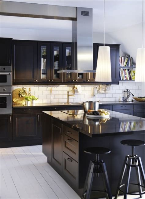 Ikea Black Kitchen Cabinets Ikea Kitchen Modern Kitchen Other Metro By Ikea