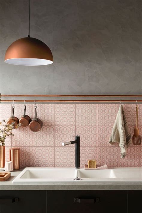 kitchen trends copper and pink decoration