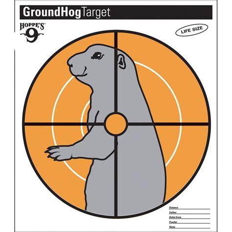 printable groundhog targets hoppes hoppes 9 groundhog target 20pk sioux archery
