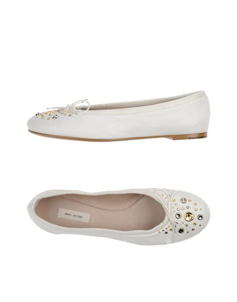 marc flat shoes marc ballet flats in white lyst