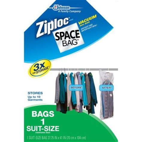 ziploc 27 75 in x 41 in hanging suit space bag 4 pack