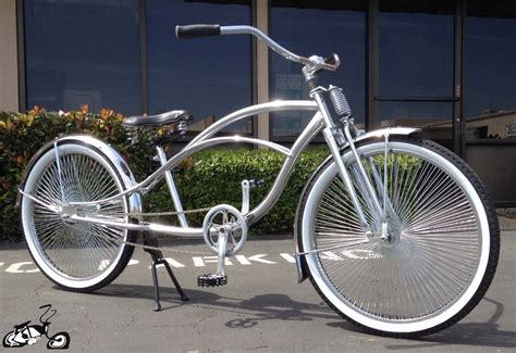 Handcrafted Bicycles - stretch cruiser bicycle with cuda springer fork