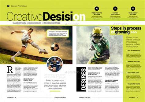 template layout majalah template desain majalah olahraga sepak bola premium