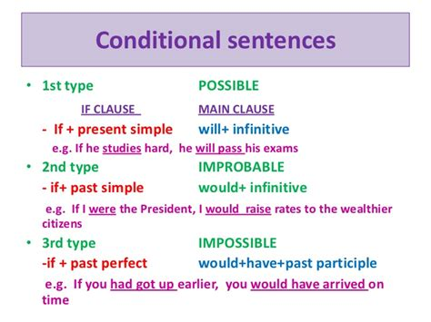 pattern of first conditional sentences conditional sentences