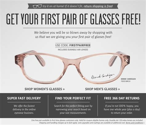 free pair of glasses free from coastal contacts