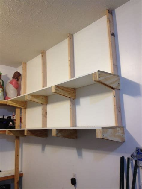 build diy garage floating shelf diy cost  building