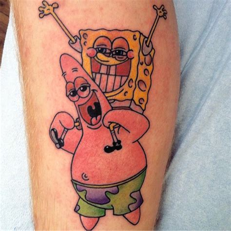spongebob tattoo stoner spongebob and it s 4 20 in bottom