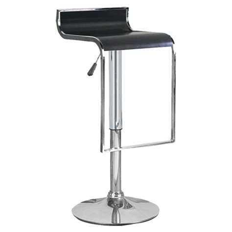 hudson bar stools hudson bar stool black leather look chrome adjustable