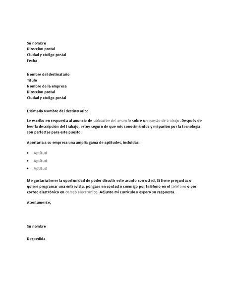 preguntas para entrevista trabajo soporte tecnico carta de presentaci 243 n de ejemplo en respuesta a un anuncio