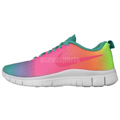 rainbow nike sneakers nike free express gs rainbow gradient run youth