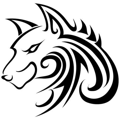 tattoo animal clipart sticker mural loup tete