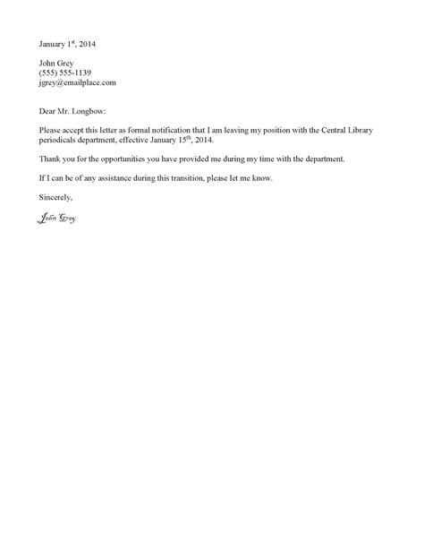 Resignation Letter Nyc Doe Formal Letter Of Resignation Sle New Calendar Template Site