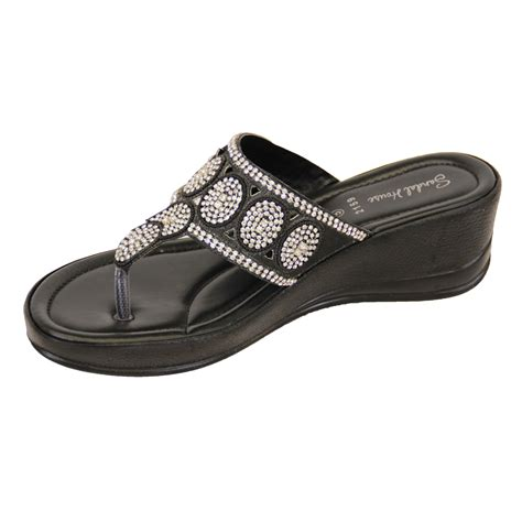 comfortable thong sandals ladies sandals womens diamante slip on toe post thong