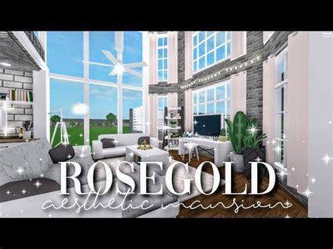 bloxburg rose gold aesthetic mansion build battle