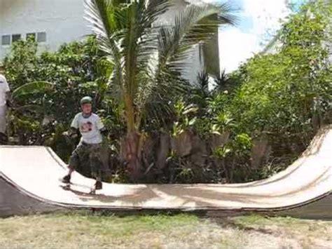 how to build a halfpipe in your backyard backyard half pipe mini r trick set youtube