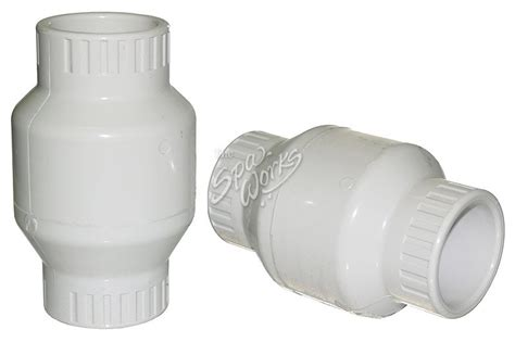 2 inch pvc swing check valve 1 1 2 inch pvc swing check valve white the spa works