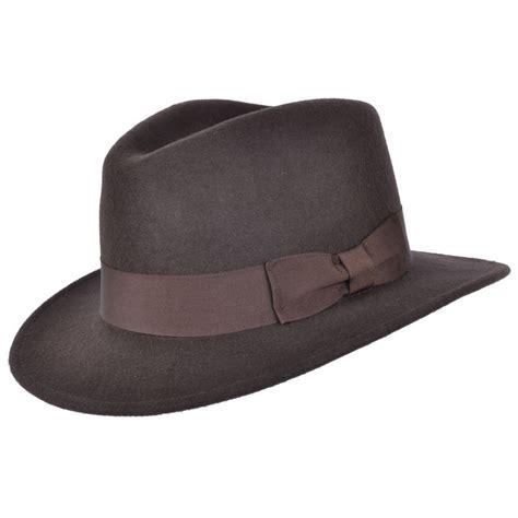 Handmade Mens Hats - handmade 100 wool felt crushable indiana fedora hat