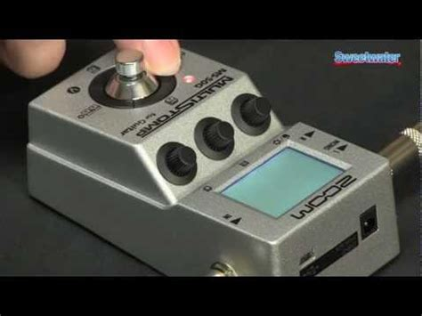 Zoom Ms50g Ms 50g Ms 50g Multistomp Pedal zoom ms 50g guitar multi fx pedal demo
