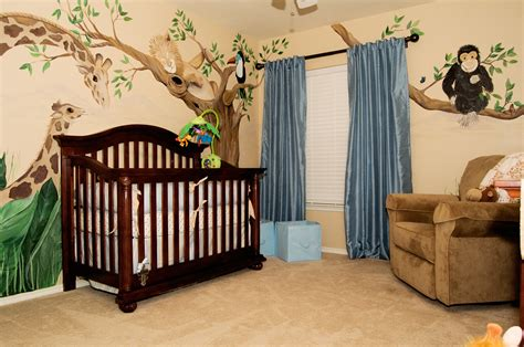 Safari Curtains For Nursery Jungle Baby Room Ideas