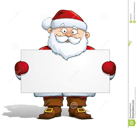 santa claus holding  label stock vector image