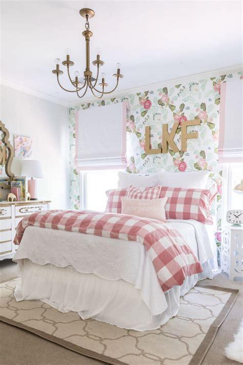 wallpaper designs bedroom homepeek floral fun big girl room reveal