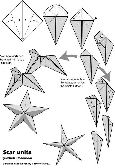 origami instructions 3d star o que 201 meu 201 nosso origami estrela de cinco pontas