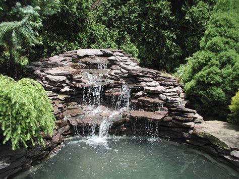 stone waterfalls backyard 47 best images about landscaping ideas on pinterest