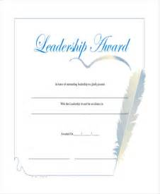 certificate of leadership template leadership certificate template 7 free word pdf psd