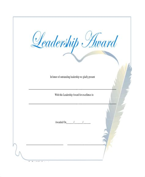 certificate of leadership template leadership award certificate templates leadership