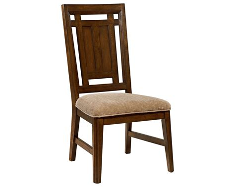 broyhill estes park upholstered seat side chair in dark