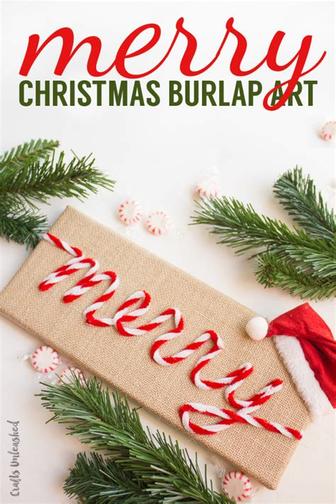 diy christmas art merry burlap crafts unleashed