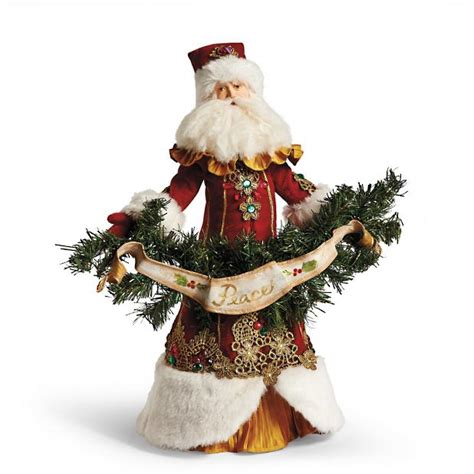 father christmas santa tree topper frontgate